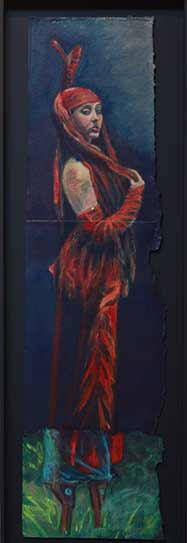 Circus-red-dress-painting