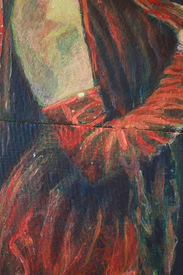 red-dress-gloves-painting